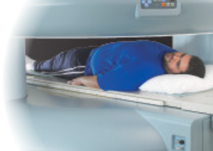 Patient undergoing Advanced Radiation Dose Reduction CT scan
